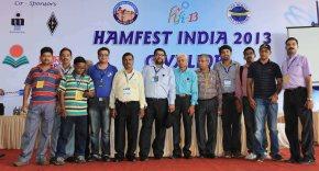 The Kolkata Hams with the organizers of Hamfest India 2013