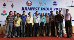 The Kolkata Hams with the organizers of Hamfest India 2013