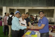 SWL Sumit receiving Momento from OM Jayant (VU2JAU)